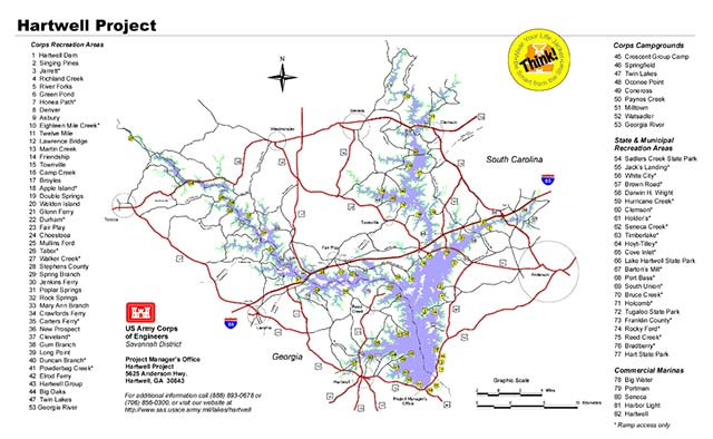 lake hartwell buoy map