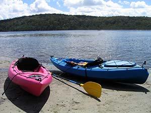 kayaking on Lake Hartwell